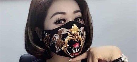 máscara social de tecido